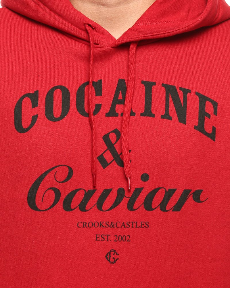 Crooks & Castles Cocaine & Caviar Knit Hood Red/Black