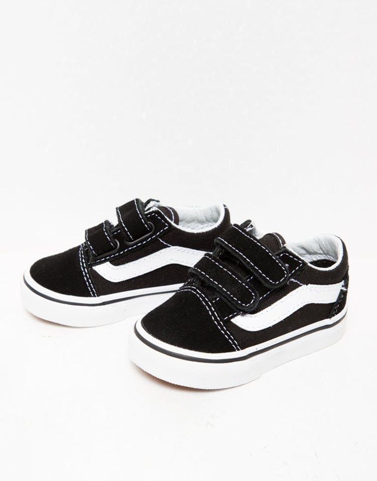 12255cfb Vans Toddler Old Skool V Black/White