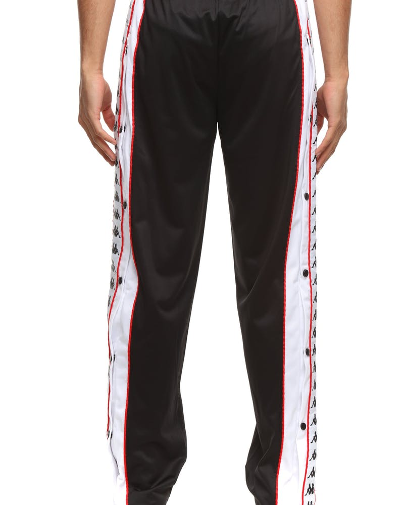 Kappa 222 Banda Big Bay Pant Black/White/Red