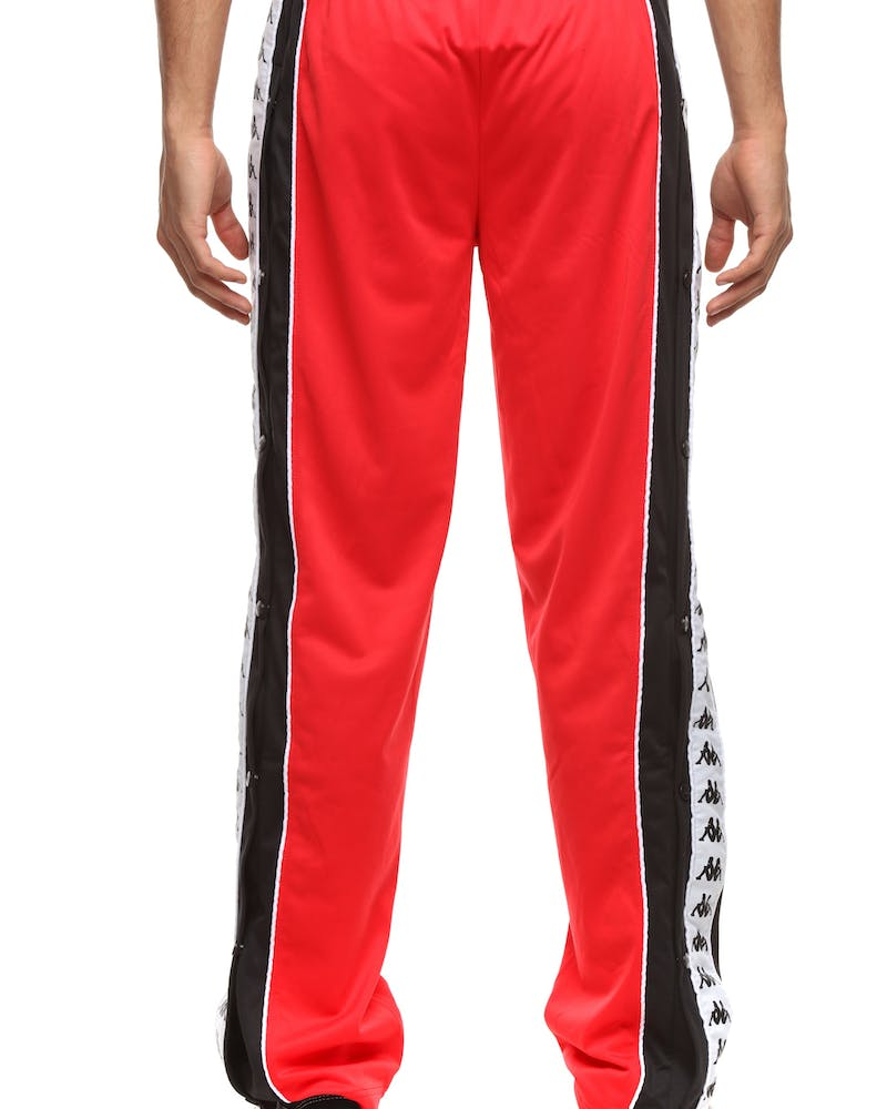 Kappa 222 Banda Big Bay Pant Red/Black/White