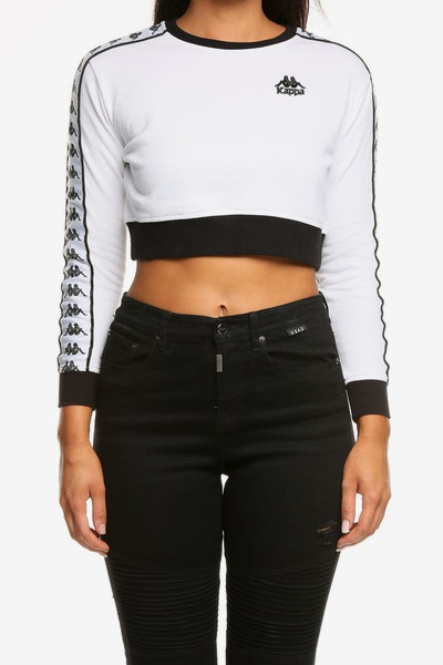 Kappa Women's Authentic Ays Crew White/Black