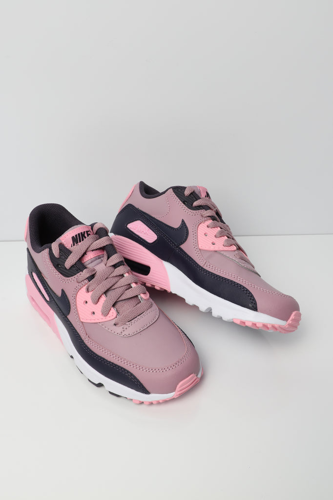 sports shoes 5b0f6 37e8f ... clearance nike air max 90 leather older kids shoe pink grey white d6f3b  6344f
