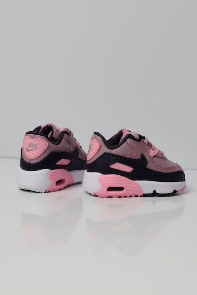 Nike Air Max 90 Leather Toddler Shoe Pink/Grey/White