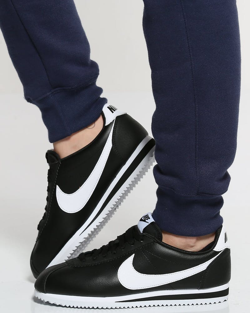 Women's Classic Cortez Leather Black/White