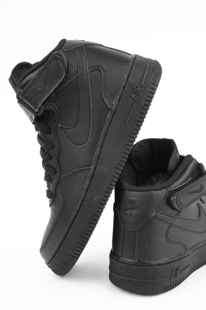 Nike Boys Air Force 1 Mid (GS) Bball BlackBlack