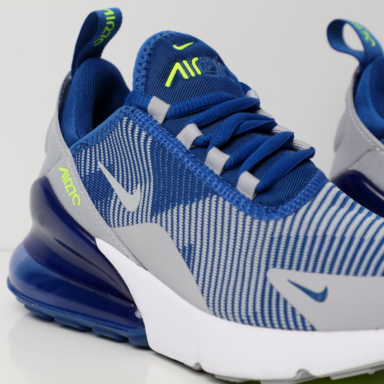 new products 1ab5d 66a1b Nike Air Max 270 Jacquard Older Kids  Shoe Blue Grey White