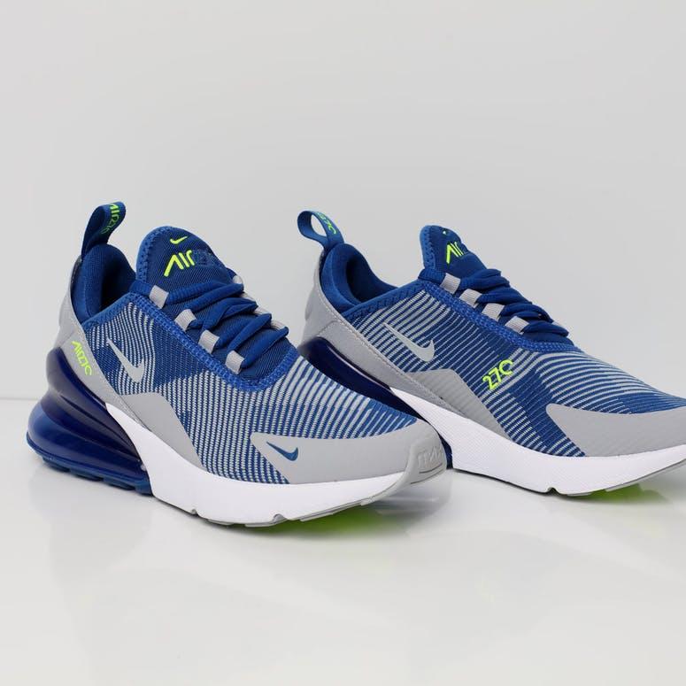 07e2e5363e5 Nike Air Max 270 Jacquard Older Kids  Shoe Blue Grey White