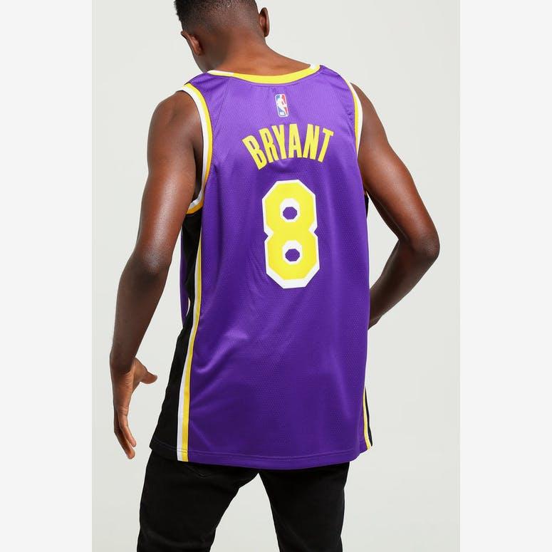 8b25e3d36bfc Nike Kobe Bryant Statement Swingman Purple Yellow Los Angeles Lakers