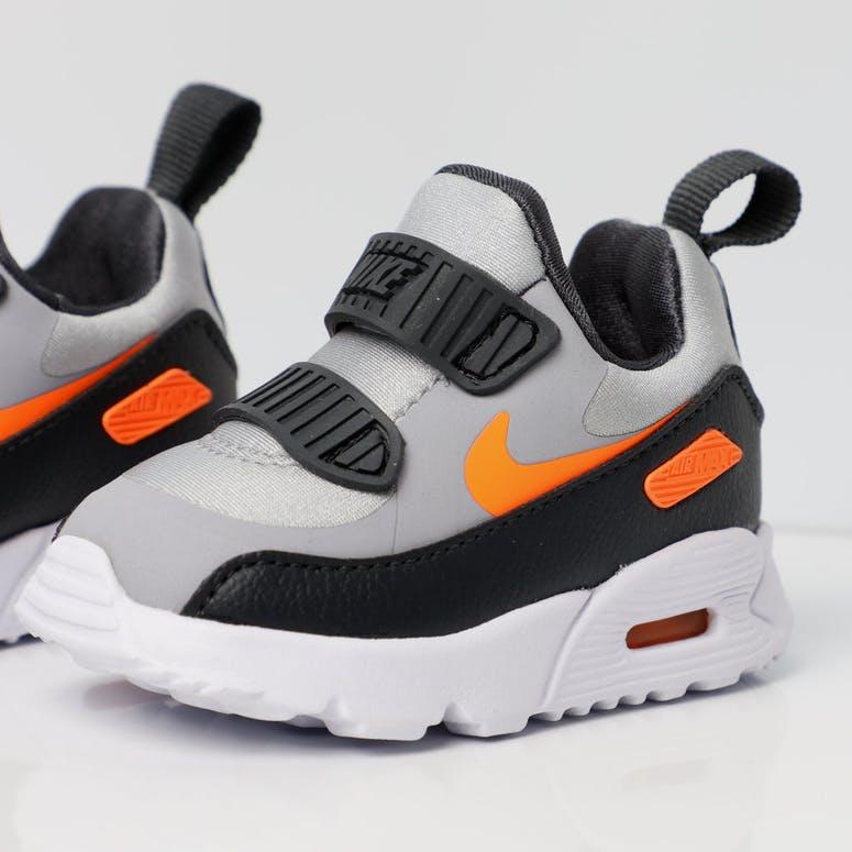 bd858f6af3e9 Nike Air Max Tiny 90 Toddler Shoe Grey Orange White