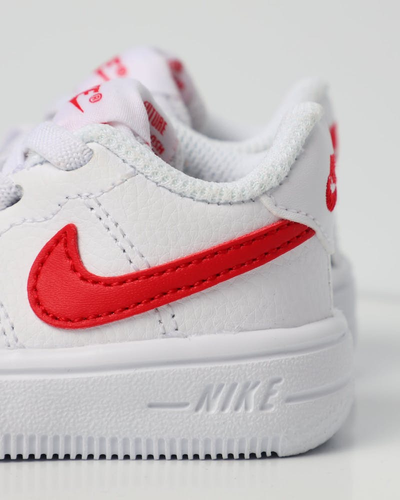 Nike Air Force 1 '18 Toddler Shoe White/Red