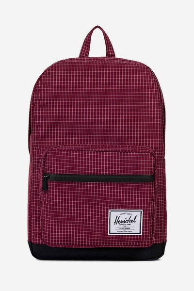 Herschel Supply Co Pop Quiz Wine Grid/Black