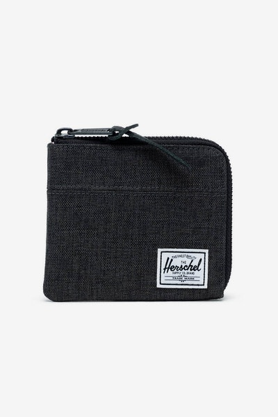 HERSCHEL BAG CO JOHNNY RFID CROSSHATCH WALLET Black
