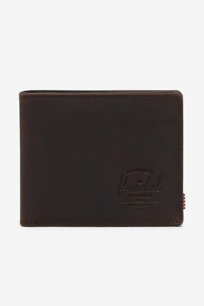 HERSCHEL BAG CO HANK LEATHER RFID WALLET Nubuck