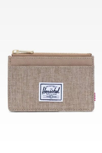 HERSCHEL BAG CO OSCAR RFID WALLET CROSSHATCH KELP