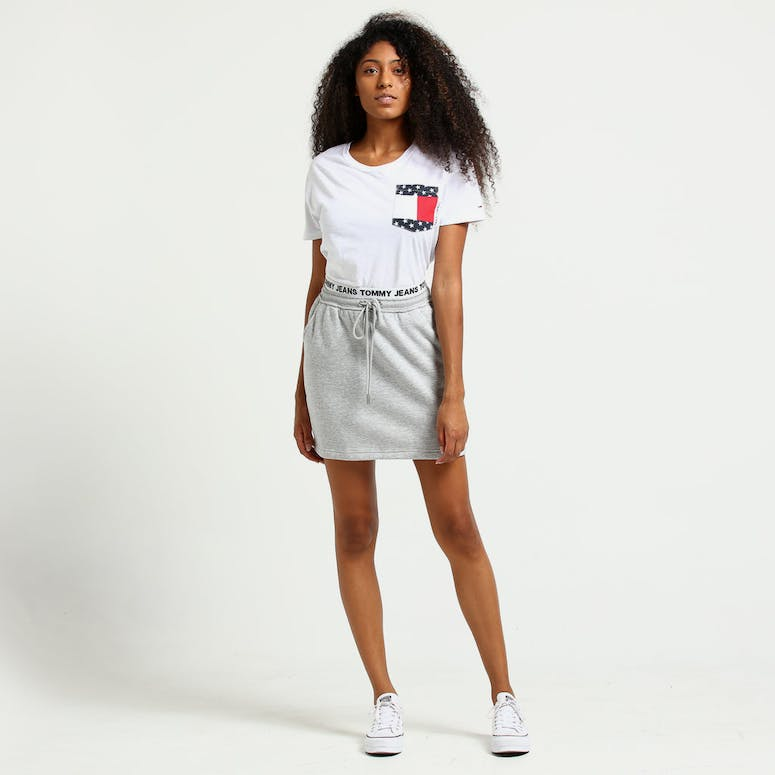 Tommy Jeans Women's TJW Casual Sweat Skirt Pale Grey