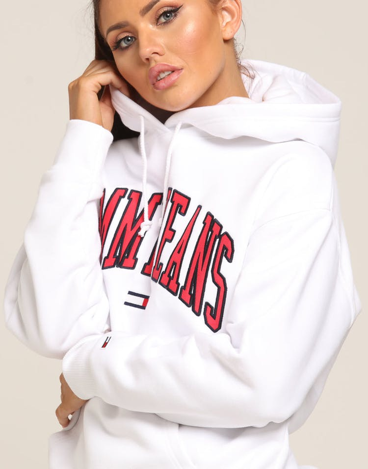 Tommy Jeans Women's TJW Clean Collegiate Hoodie White