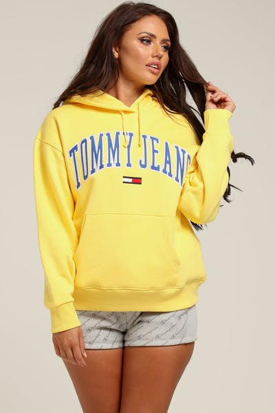 Tommy Jeans Women's TJW Clean Collegiate Hoodie Gold