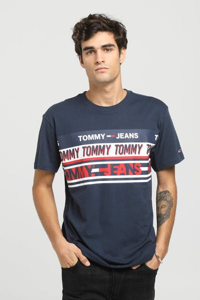 Tommy Jeans TJM Essential Tommy Tee Black Iris/Blue