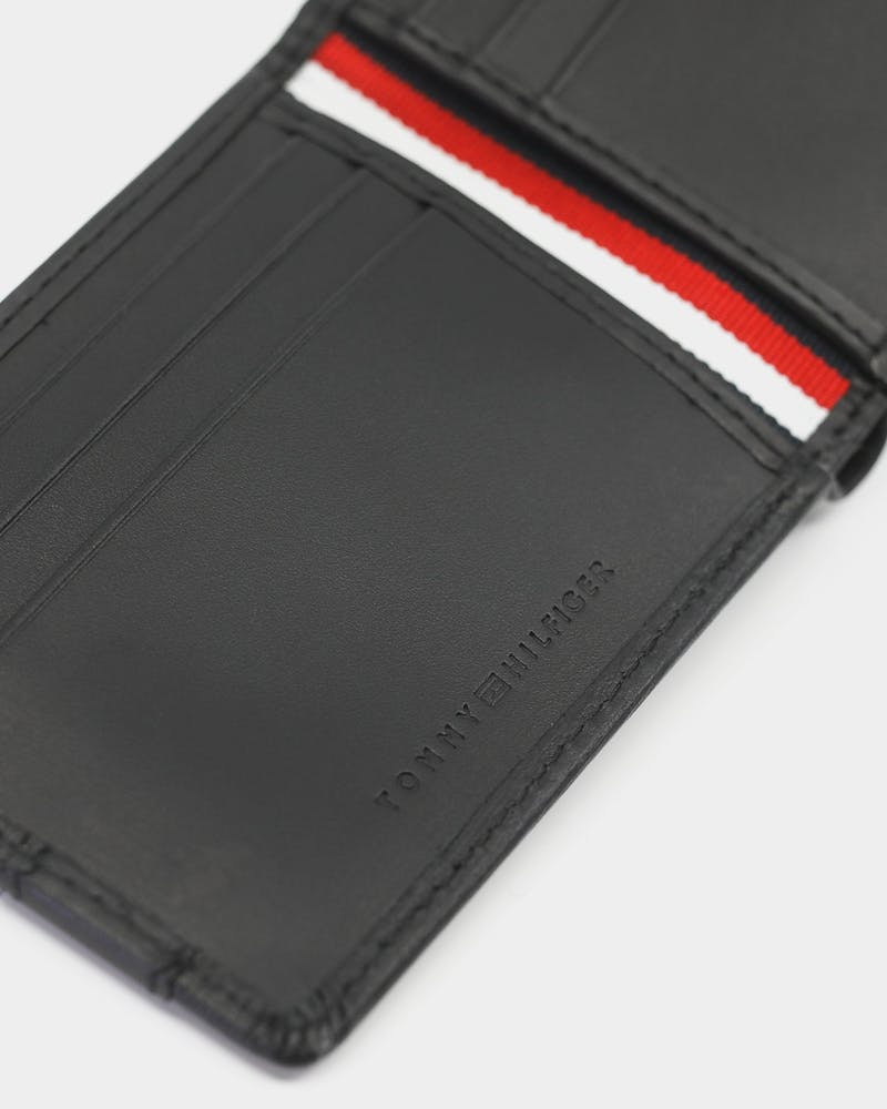 Tommy Hilfiger Textured Leather CC Wallet Black