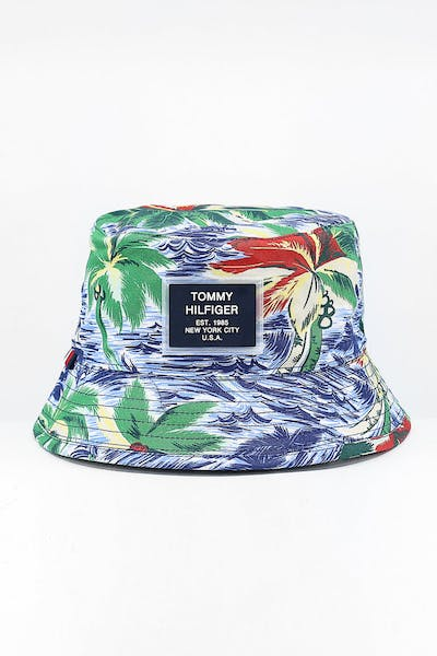 Tommy Jeans Reversible Summer Bucket Hat Tropical/Light