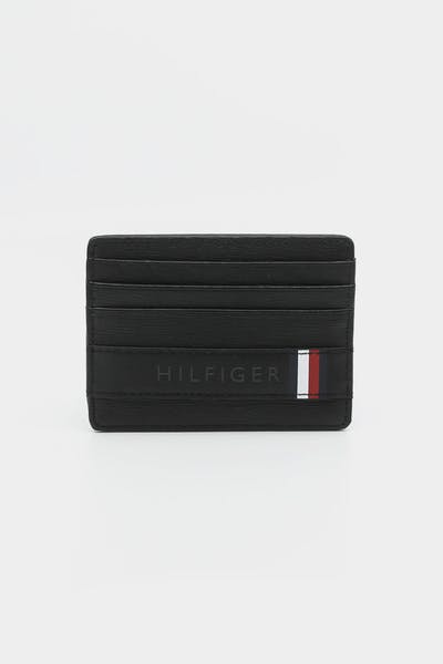 Tommy Hilfiger Textured Leather CC Holder Black