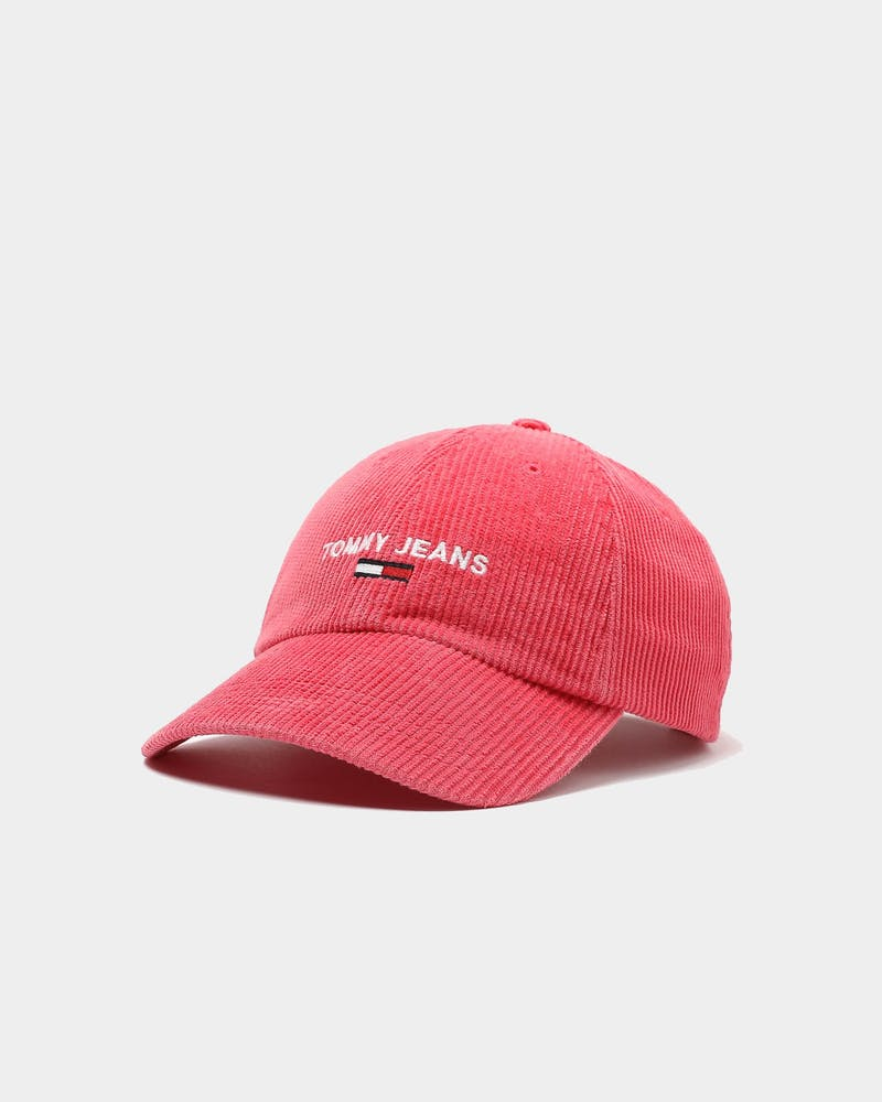 Tommy Jeans TJW Sports Corduroy Cap Claret Red