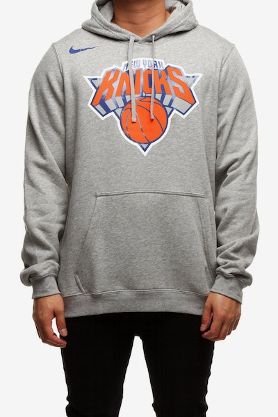 New York Knicks Nike Fleece Hoodie Grey Heather