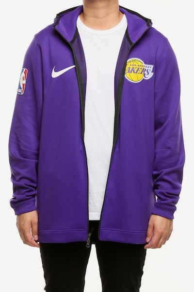 Los Angeles Lakers Nike Therma Flex Showtime Hood Purple/Black/White