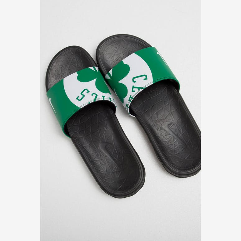 7aa27fa93c3876 Nike Benassi Solarsoft NBA Slides Green White Black – Culture Kings NZ