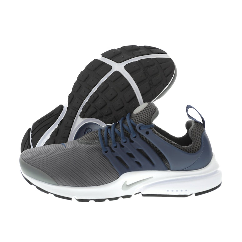 sleek on feet images of new photos Nike Air Presto Essential Dark Grey/Midnight Navy/White/Metallic Silver