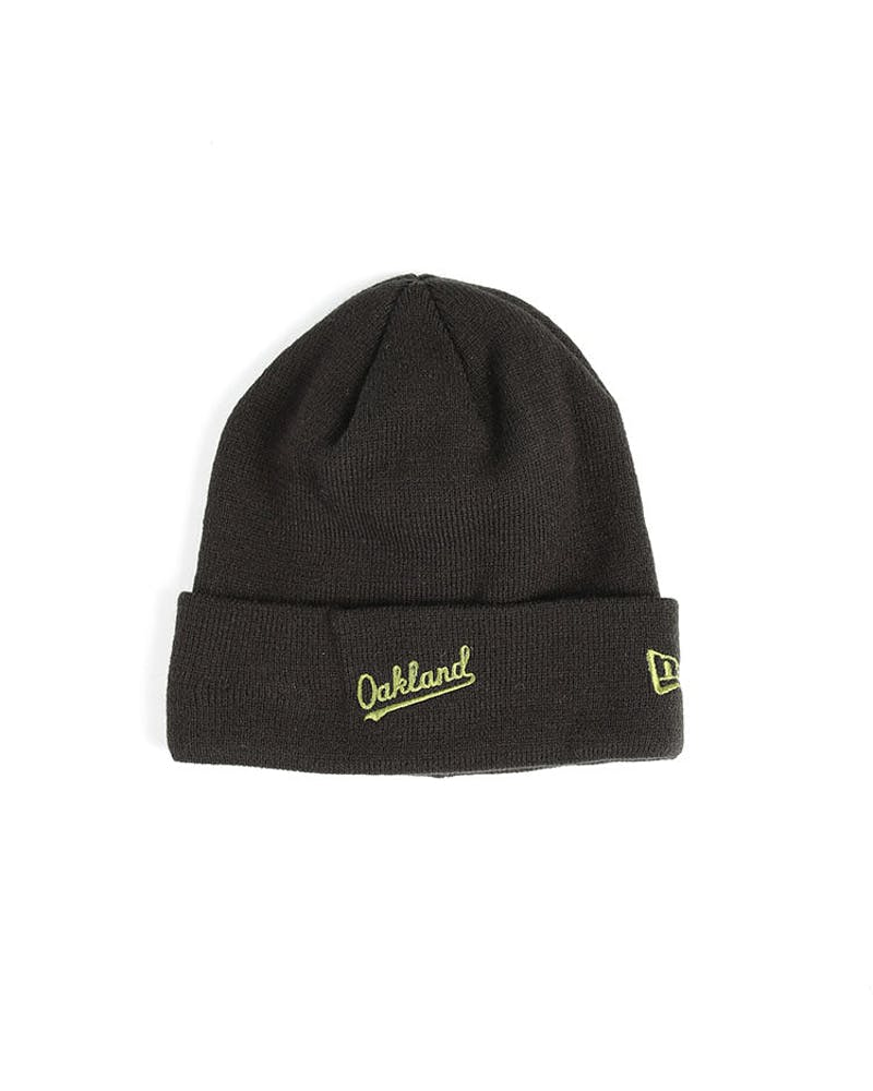 New Era Athletics Dark Knit Beanie Black