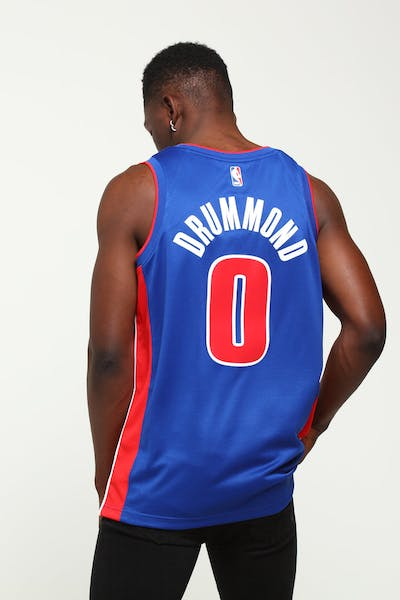 Andre Drummond #0 Detroit Pistons Nike Icon Edition Swingman Jersey Blue/Red