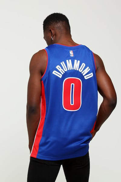 be2388e8c35 Andre Drummond  0 Detroit Pistons Nike Icon Edition Swingman Jersey Blue Red