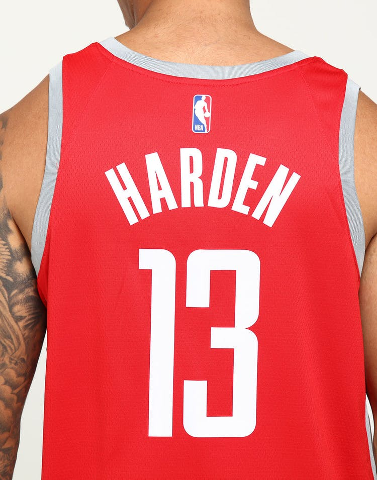 super popular 182a9 cfcde James Harden #13 Houston Rockets Nike Icon Edition Swingman Jersey  Red/Silver