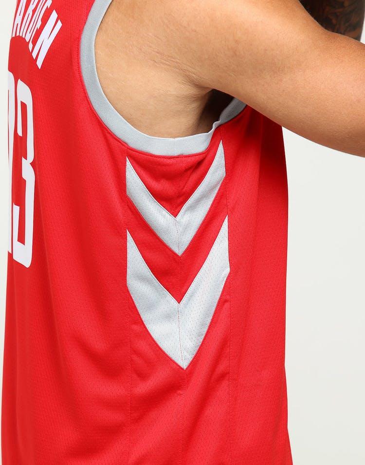 super popular b3c88 f5ec7 James Harden #13 Houston Rockets Nike Icon Edition Swingman Jersey  Red/Silver