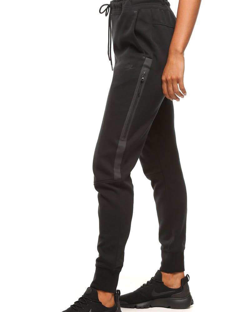 Nike Women S Tech Fleece Pants Black Black Culture Kings Nz