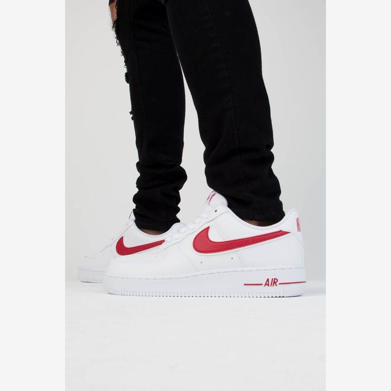 Nike Air Force 1  07 3 White Red – Culture Kings NZ b2c51278b