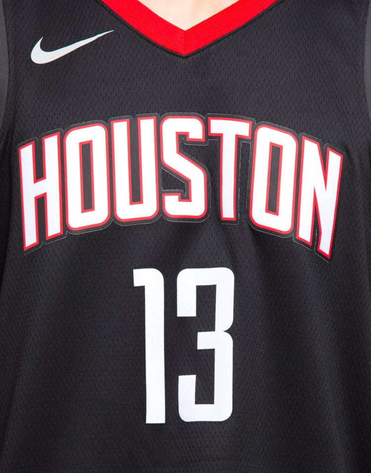 new concept 1ce9f defd9 Nike Houston Rockets #13 James Harden Alternate Swingman Jersey Black/Red