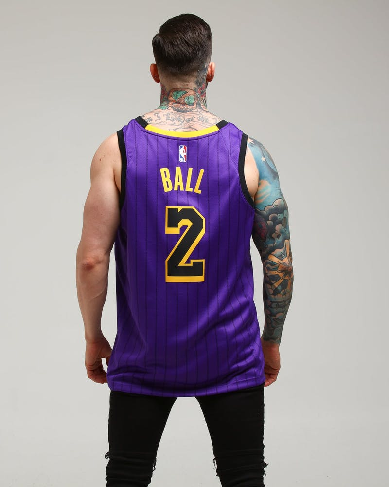 Nike Los Angeles Lakers Lonzo Ball #2 City Edition Swingman NBA Jersey '18 Purple