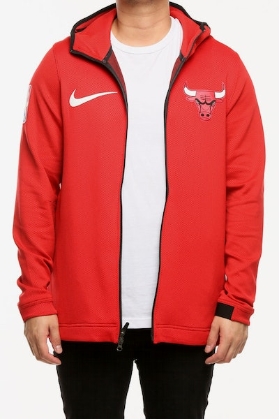 Chicago Bulls Nike Therma Flex Showtime Hood Red/Black/White