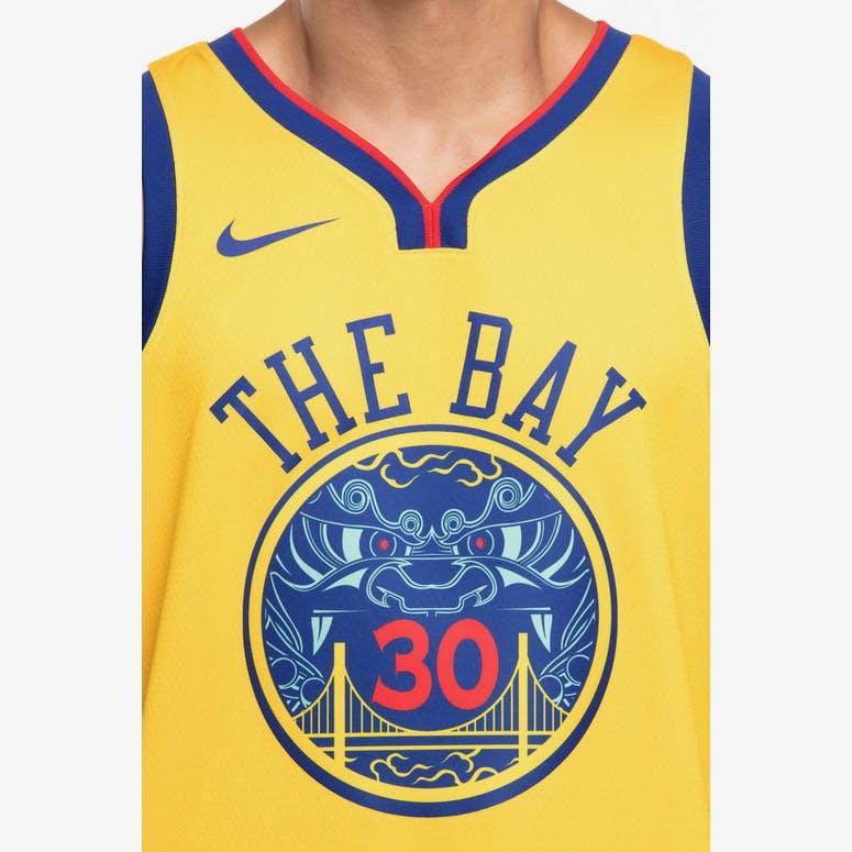 574d8090de64 Nike Golden State Warriors  30 Stephen Curry City Edition Swingman Jersey  Yellow