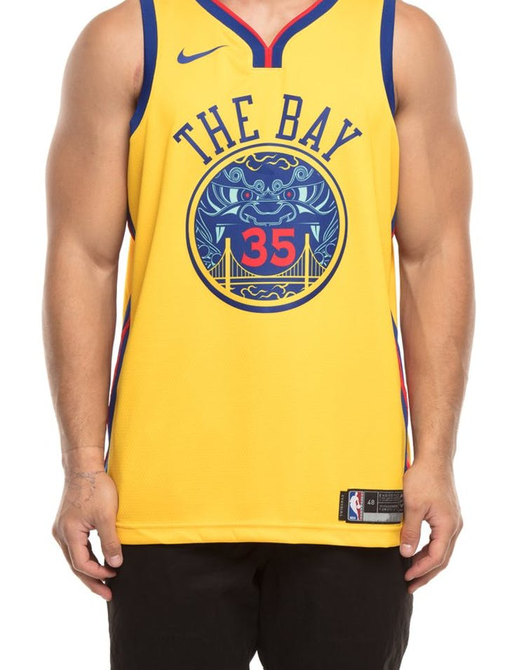 1ee22c9fa Nike Golden State Warriors  35 Kevin Durant City Edition Swingman Jersey  Yellow