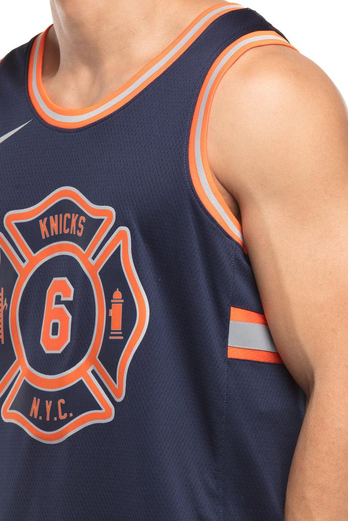 Nike New York Knicks #6 Kristaps Porziņģis City Edition Swingman Jersey Navy