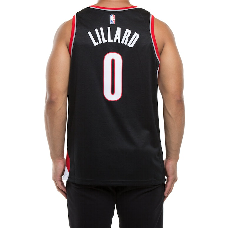 39d823d42 ... Trailblazers Nike Icon Edition Swingman Jersey Black Portland Trail  Blazers 0 Damian Lillard Rip City Revolution 30 Swingman 2014 New White  Jersey NBA
