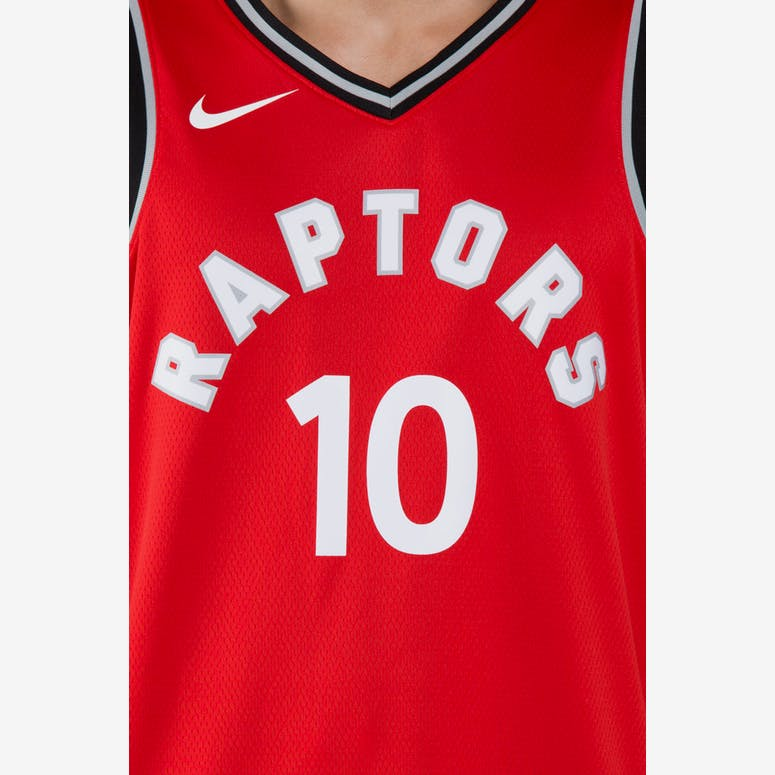 DeMar DeRozan  10 Toronto Raptors Nike Icon Edition Swingman Jersey  Red Black fac9c46f6