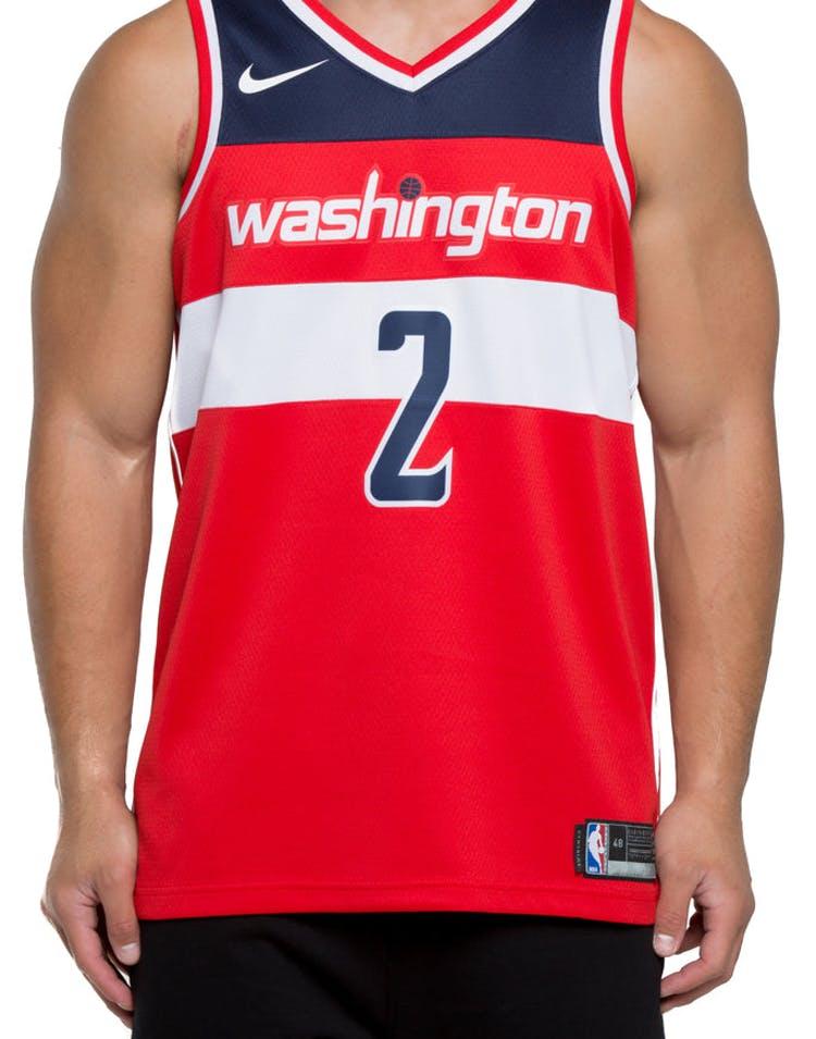 ea34e18a8a6 John Wall  2 Washington Wizards Nike Icon Edition Swingman Jersey Red Navy  White