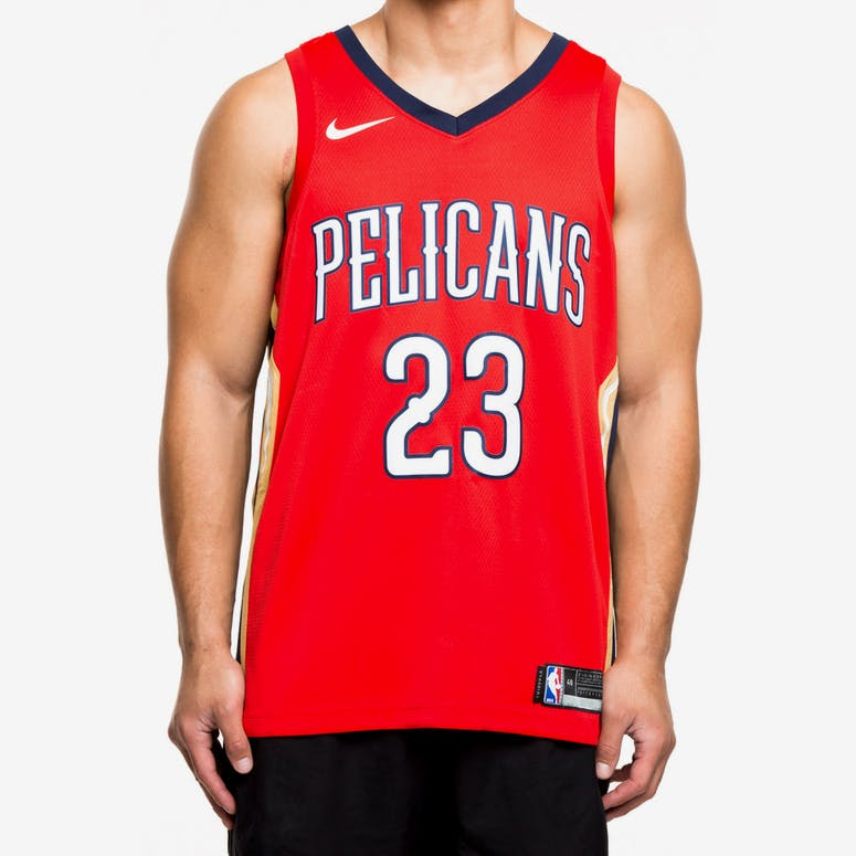 d598357ed Nike New Orleans Pelicans  23 Anthony Davis Statement Edition Swingman  Jersey Red Navy