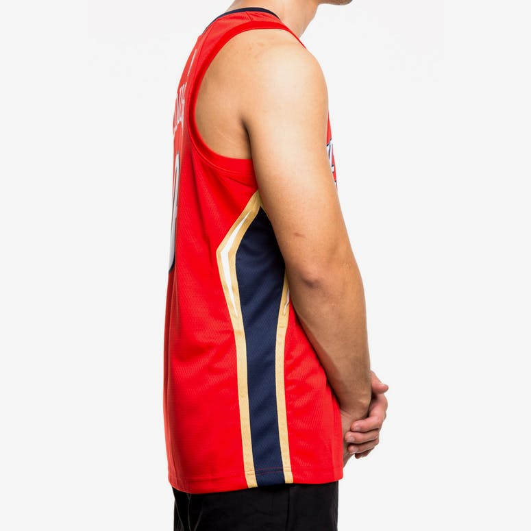 5acbf82a9 Nike New Orleans Pelicans  0 DeMarcus Cousins Statement Edition Swingman  Jersey Red Navy