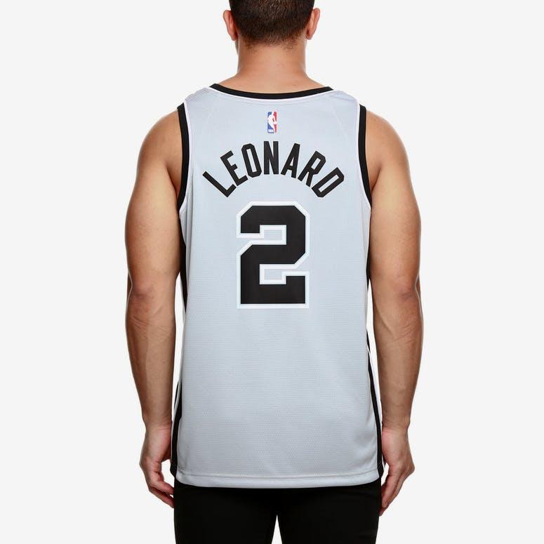 8c1386ea2ee Nike San Antonio Spurs  2 Kawhi Leonard Alternate Swingman Jersey  Silver Black White