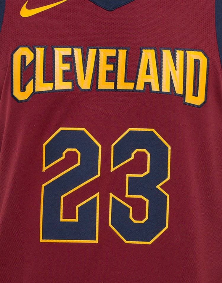 0907644979e Nike LeBron James #23 Cleveland Cavaliers Icon Edition Authentic NBA Jersey  Red
